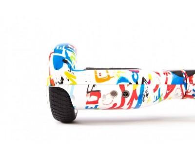 Гироскутер Smart Transformer граффити белый